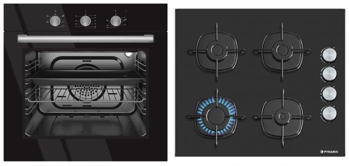 Set Pyramis Black Glass 500S [0]