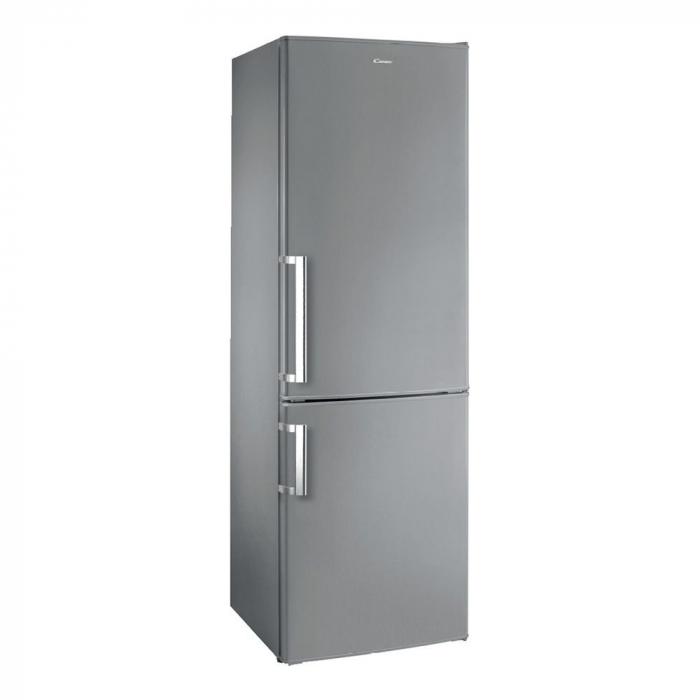 Combina frigorifica Candy CCBS 6182XH, 300 l, Clasa A+, H 185 cm, Inox