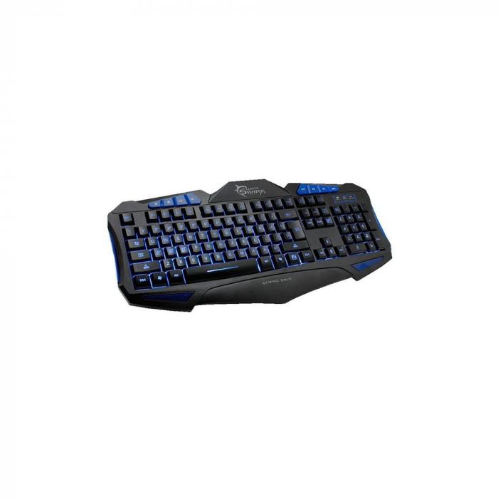 Tastatura Gaming White Shark GK-1621 SHOGUN BLUE - 104 taste standard + 8 taste hot pentru internet si media [0]