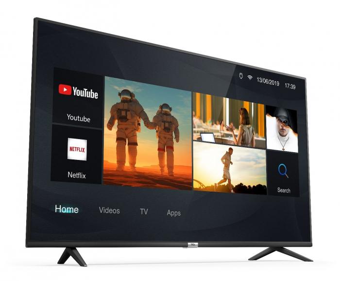 Televizor LED Smart TCL 43P610, 109 cm, 4K Ultra HD, Clasa F, Argintiu [1]