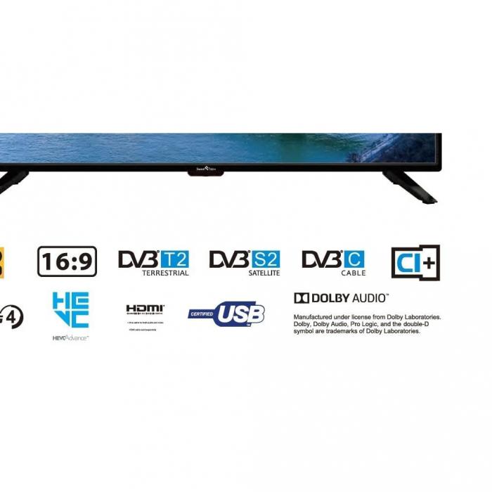 Televizor LED Smart Tech, SMT39Z30HC1L1B1, 98 cm, HD, Negru 1