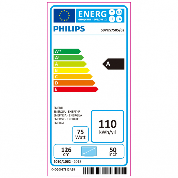 Televizor Philips 50PUS7505/12, 126 cm, Smart, 4K Ultra HD, LED, Clasa G [8]