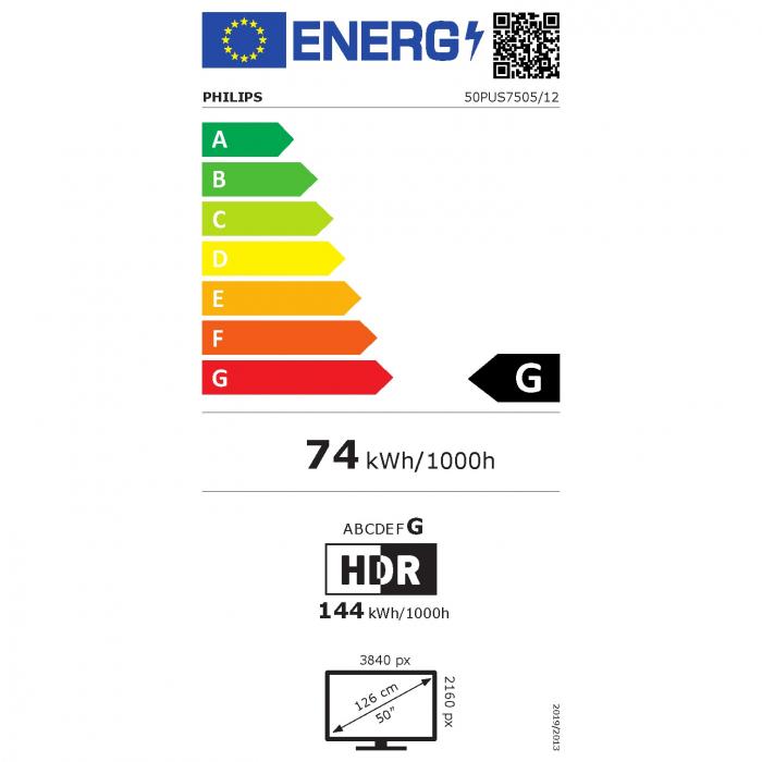 Televizor Philips 50PUS7505/12, 126 cm, Smart, 4K Ultra HD, LED, Clasa G [9]