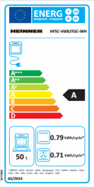 Aragaz mixt Heinner HFSC-V60LITGC-WH, 4 arzatoare gaz, Dispozitiv de siguranta plita, Aprindere electrica, Cuptor electric, Timer, Grill, Clasa A, 50 cm, Alb 1