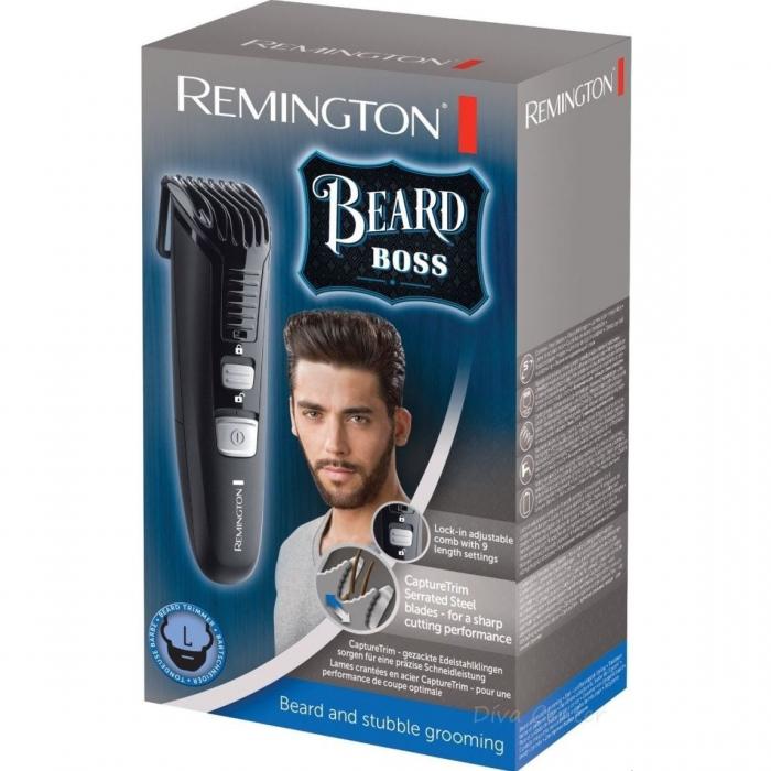 Trimmer pentru barba Remington MB4120, 11 setari de lungime prestabilite, Lama lavabila, Negru 2