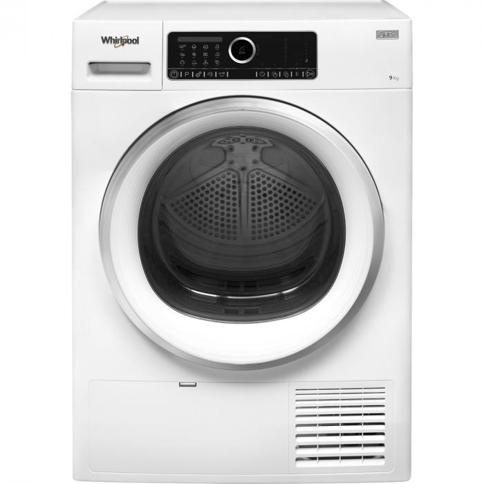 Uscator de rufe Whirlpool Supreme Care STU92XEU, Pompa de caldura, 9 kg, Clasa A++, Motor Inverter, 6th Sense, Display digital, Alb [0]