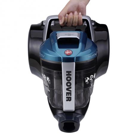 Aspirator fara sac Hoover Breeze BR71BR30011, 700W, 2 L, Filtru Lavabil EPA, Roata Frontala Rotativa 360° , Negru / Albastru3