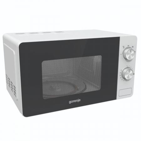 Cuptor cu microunde Gorenje MO17E1W, Putere 700 W, Functie decongelare, Alb [0]
