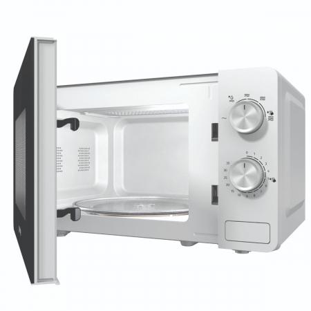 Cuptor cu microunde Gorenje MO17E1W, Putere 700 W, Functie decongelare, Alb [3]