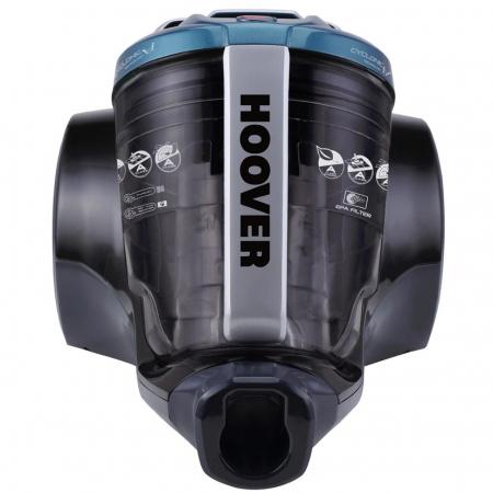 Aspirator fara sac Hoover Breeze BR71BR30011, 700W, 2 L, Filtru Lavabil EPA, Roata Frontala Rotativa 360° , Negru / Albastru0