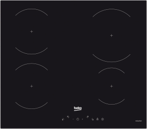 Plita incorporabila Beko HII64430GT, Inductie, 4 zone de gatit, Touch control, Timer, Booster, 60 cm, Negru