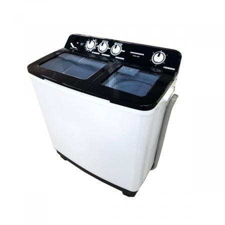 Heinner Masina de spalat rufe semiautomata HSWM-104BK, 10 Kg, 4.6 Kg, Alb/Negru0