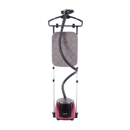 Aparat de calcat vertical cu abur Daewoo DGS2000, 2000 W, 2.1 litri, debit abur 40 g/minut, Display LCD, Rosu/ Negru0