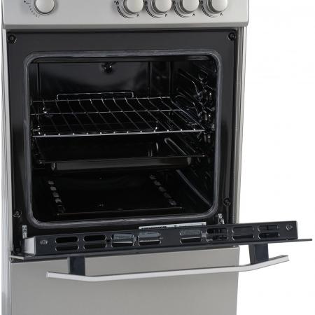 Aragaz Heinner HFSC-V50SL, 4 arzatoare, Gaz, Dispozitiv de siguranta plita/cuptor, Duze GPL incluse, 50 cm, Silver2