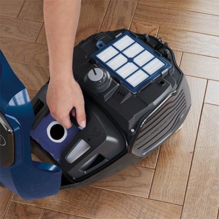 Aspirator cu sac Electrolux EPF62IS, 700W, Clasa A, filtru H12 lavabil, perie Parketto, Albastru [2]