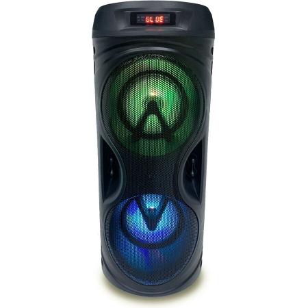 Boxa portabila activa Akai ABTS-530BT, 5 W, Bluetooth, USB, micro SD card slot, Intrare microfon, Lumini difuzor [0]