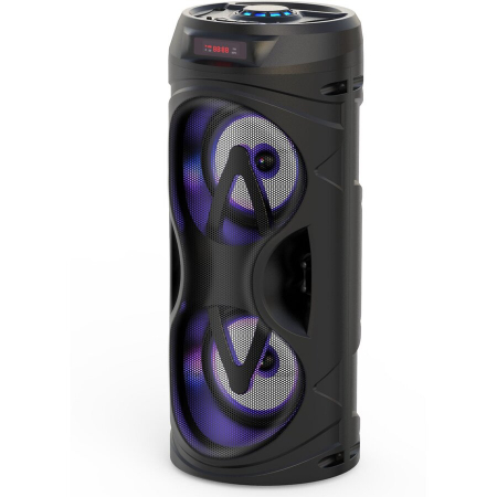 Boxa portabila activa Akai ABTS-530BT, 5 W, Bluetooth, USB, micro SD card slot, Intrare microfon, Lumini difuzor [1]