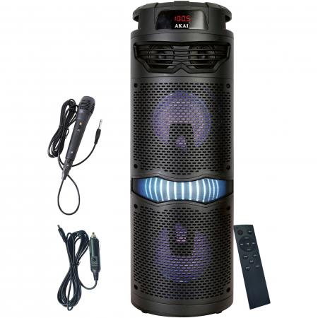 Boxa portabila activa, AKAI ABTS-636, Bluetooth 5.0, 40W, Radio FM0
