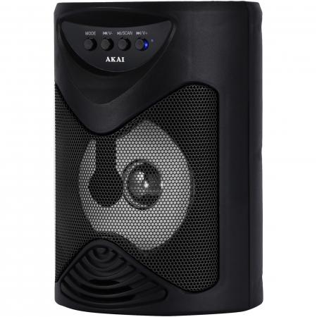 Boxa portabila activa, AKAI ABTS-704, Bluetooth 4.2, Radio FM1