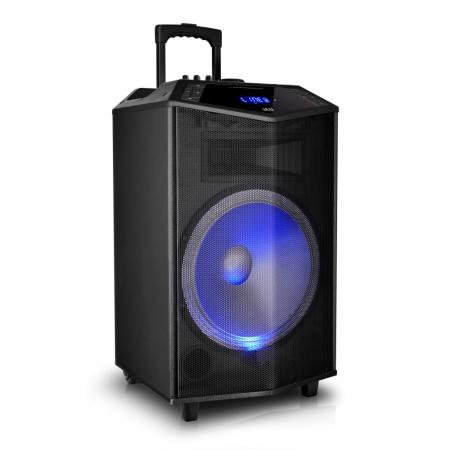 Boxa portabila Akai ABTS-DK15 cu BT, lumini disco, functie inregistrare, microfon1