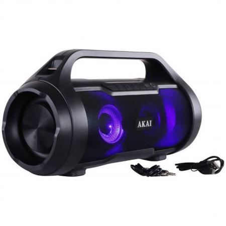Boxa Portabila, Bluetooth, rezistenta la apa AKAI ABTS-50 , Radio FM , USB ,SD card13