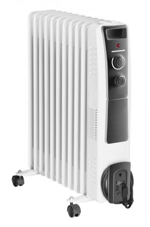 Calorifer electric cu ulei Heinner HOH-Y11WB, 2500 W, 11 elementi, protectie supraincalzire, termostat reglabil, alb [1]