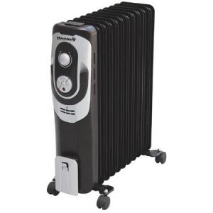 Calorifer electric HAUSBERG HB-8900, 7 elementi, Putere 1500 W, 3 trepte de putere, Termostat de siguranta, Termostat reglabil, Alb-Negru