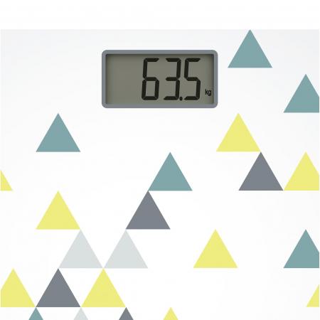 Cantar corporal Tefal Decor PP1145V0, 160kg, 100g, Lcd, 30x30cm, Alb/Abstract [2]