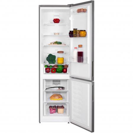 Combina frigorifica Arctic AK60406E40NFMT, 362 l, NoFrost, Display, Air Flow, Clasa E, H 202 cm, Argintiu [2]