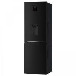 Combina frigorifica Daewoo RN-307RDQB, 305 l, Clasa A+, No Frost, Dispenser apa, Display Touch-Control, H 187 cm, Negru