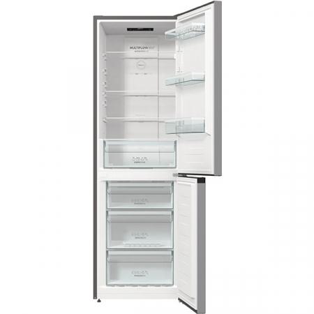 Combina frigorifica GORENJE NRK6191ES4, No Frost Plus, 302 l, H 185 cm, Clasa A+, argintiu [3]