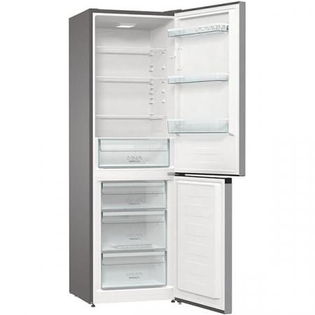 Combina frigorifica GORENJE RK6191ES4, FrostLess, 314 l, H 185 cm, Clasa A+, argintiu4
