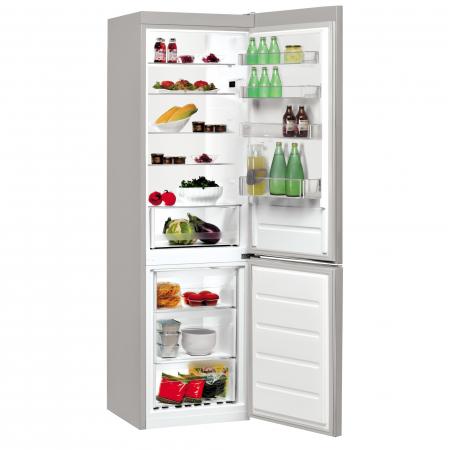 Combina frigorifica Indesit LI9S1ES, 372 l, Clasa F, Fast cooling, Less Frost, H 201 cm, Argintiu [1]