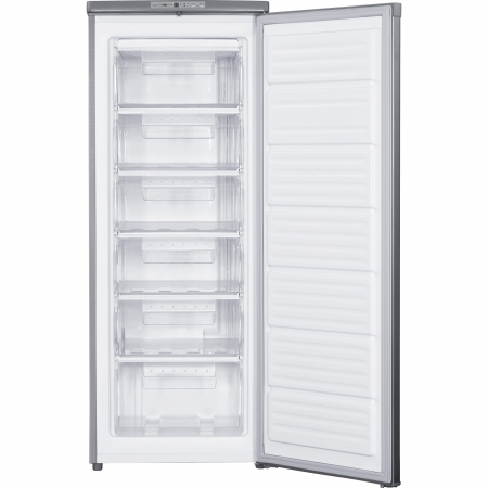 Congelator Heinner HFF-180NHXF+, 163 l, Clasa A+, 6 sertare, Control electronic, H 143 cm, Argintiu1