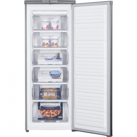 Congelator Heinner HFF-180NHXF+, 163 l, Clasa A+, 6 sertare, Control electronic, H 143 cm, Argintiu2