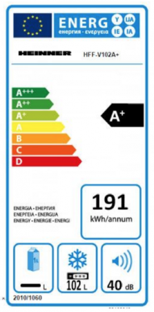 Congelator Heinner HFF-V102A+, Control Mecanic Al Temperaturii, Alb [2]