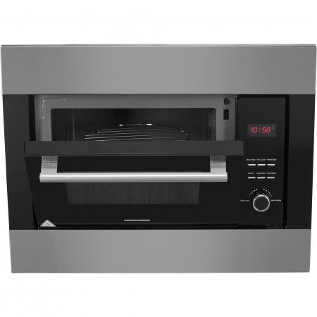 Cuptor cu microunde incorporabil Heinner HMW-23BIXBK, 23 L, 800 W, Grill, Digital, Negru/ Inox2