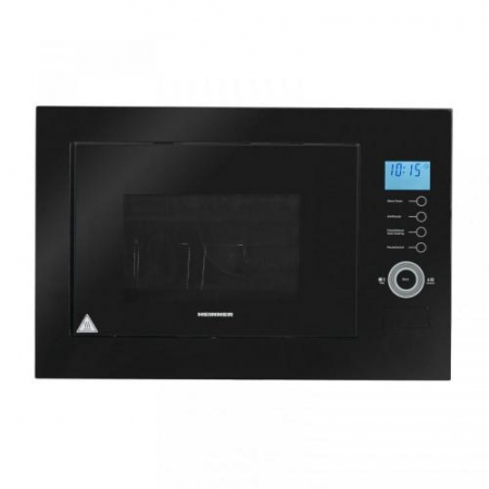 Cuptor cu microunde incorporabil Heinner HMW-25BIGBK, 25 L, 900 W, Grill, Control touch, Display LCD, Sticla Neagra1
