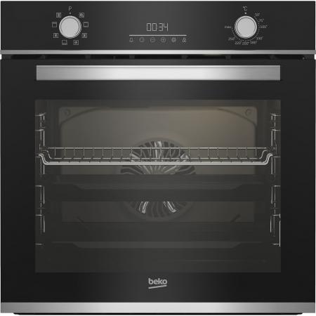Cuptor incorporabil Beko BBIM13300XM, Electric, 72 l, Autocuratare catalitica, Display touch control, SteamShine Cleaning, Grill, 3D Cooking, Clasa A, Sticla neagra0