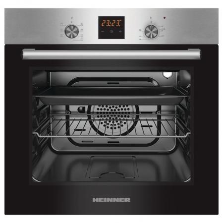 Cuptor incorporabil Heinner HBO-S567LDTGC-IX, Electric, 56 l, Mutifunctional, 7 Functii, Grill, Display Touch, Clasa A, Inox0