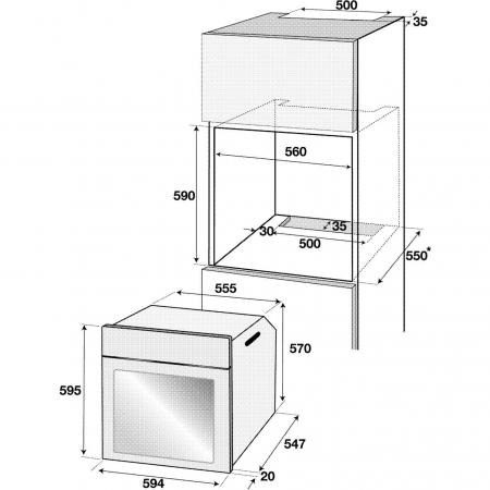 Cuptor incorporabil rustic Beko OIM27201C, Electric, 71 l, Clasa A, Grill, Gatire 3D, Crem2