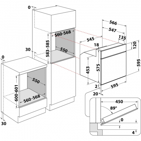 Cuptor incorporabil Whirlpool AKP 745 NB, Clasa A, Multifunctional, 8 functii, Grill, Decongelare, Negru [3]