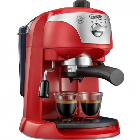 Espressor cu pompa DeLonghi EC221.Red, Dispozitiv spumare, Sistem cappuccino, 15 Bar, 1 l, Oprire automata [0]