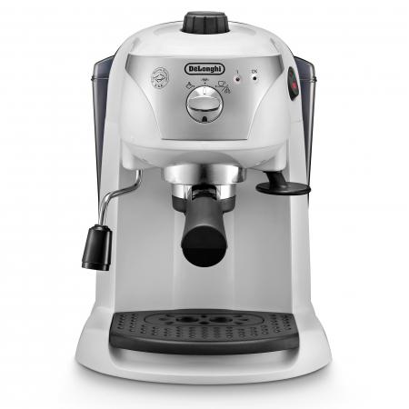 Espressor cu pompa DeLonghi EC221.White, Dispozitiv spumare, Sistem cappuccino, 15 Bar, 1 l, Oprire automata [1]