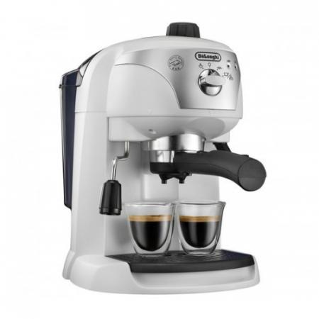 Espressor cu pompa DeLonghi EC221.White, Dispozitiv spumare, Sistem cappuccino, 15 Bar, 1 l, Oprire automata [0]