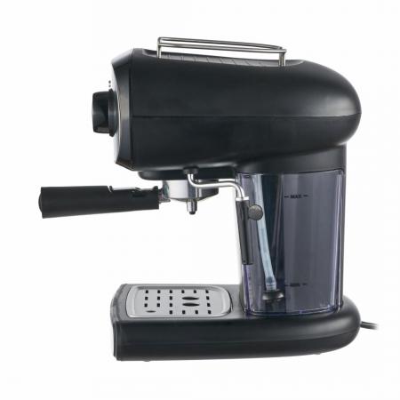Espressor manual Heinner Black Boquette HEM-1100BKX, 850W, 15bar, rezervor detasabil 1.2L, filtru dublu din inox, Negru/Inox [1]