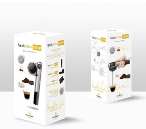 Espressor manual portabil Pump Handpresso, inox, 16 bar presiune, 50 ml capacitate rezervor apa - Handpresso