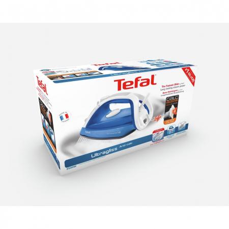 Fier de calcat Tefal Ultragliss 4 FV4964E0, 2500W, rezervor de apa 0.27L, jet de abur 180g/min, abur variabil 40g/min, Albastru3