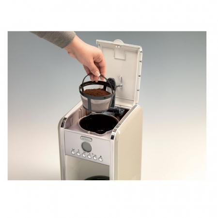 Filtru de cafea Ariete 1342 Vintage, 4-12 cesti, Display LCD, Crem / Beige [2]