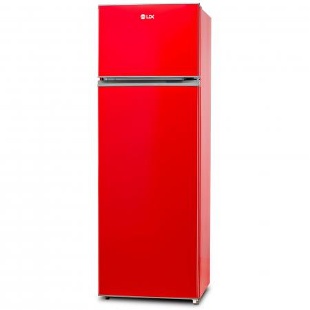 Frigider cu doua usi LDK LF 260 RED, Clasa A+, Capacitate 240 l, H 159 cm, 5 ani garantie, Rosu1